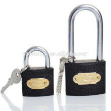New Popular high quality Black painted Grey iron cheap padlock