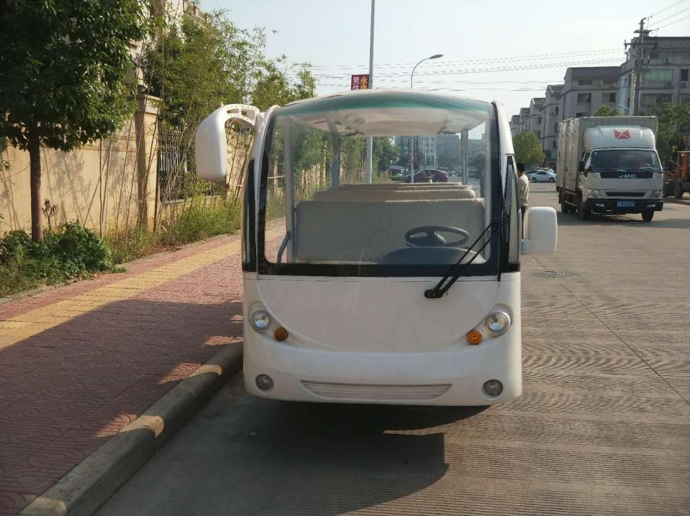 14 seaters high quality gas powered passenger shuttle bus