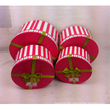Printing Round Paper Boxes Set with Ribbon