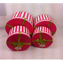 Печать круглых бумажных коробок с лентой