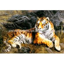 Decoração animal da parede Pintura da lona do tigre