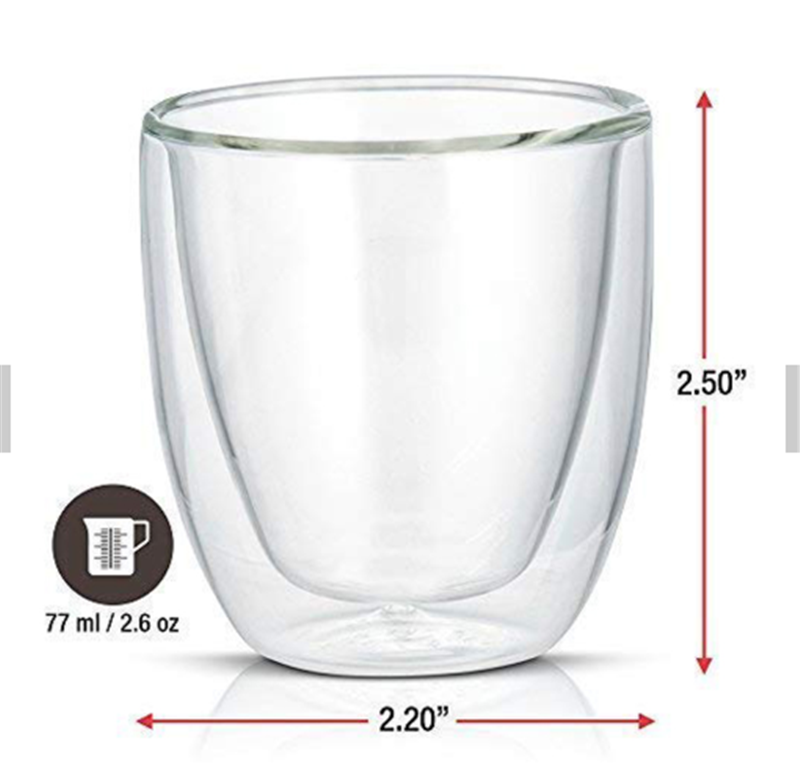 Drinking Glasses Double Walled Cups Espresso Glassware