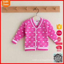 Kids jacquard suéter caliente lana de punto a medida para los bebés