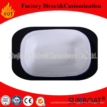 Sunboat Bakeware Kitchenware/ Kitchen Appliance Classical Style Square Plate Tray Enamel Tray Dinner Plate
