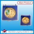 Antike vergoldeten Emaille 3D Souvenir Münze