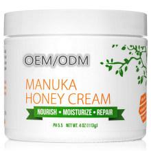 OEM/ODM Natural Manuka Honey Soothing Dry Skin Hydrating Moisturizer Cream