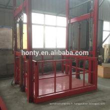 ascenseur de plate-forme hydraulique / marchandises vertical ascenseur de fret d'ascenseur de rail de guide hydraulique