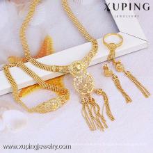 60748- Xuping Fashion New Design borla de Navidad conjunto de joyas para mujer de moda