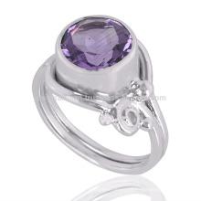 Amethyst Gemstone 925 Sterling Silver Ring Wholesale Fabricant de bijoux en argent