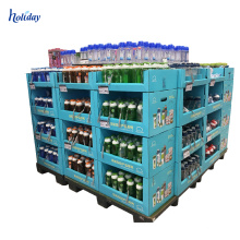 Point Of Sale Double Side Shelf Display Rack,Large Storage Supermarket Promotional Shelving Racks