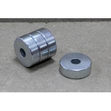Disque magnétique fritté NdFeB avec trou droit.