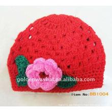 Venta al por mayor de lana tejidos a mano de mujer sombreros de invierno