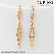 92035 Xuping ювелирные изделия простой новый модный дизайн позолоченные серьги для женщин
