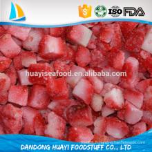 Vente chaude de fraises congelées à prix réduit en emballage