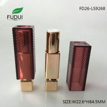 12.1mm Red Square Makeup Lipstick Container Packaging Suppliers