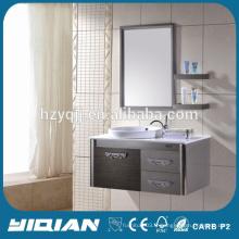Vanité de salle de bain moderne en acier inoxydable