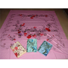 Flower Design T/C 50/50 Plain Dyed and Printed Jacquard Bed Sheet