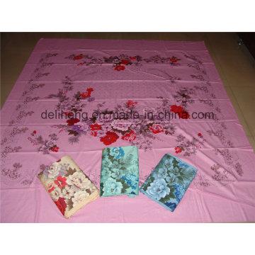 Цветочный дизайн T / C 50/50 Plain Dyed and Printed Jacquard Bed Sheet