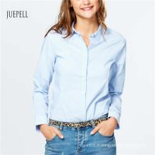 Chemise de bureau en coton pour femme