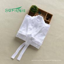 Ropa de hotel / color blanco 100% algodón albornoz del hotel, albornoz de felpa, toalla de baño