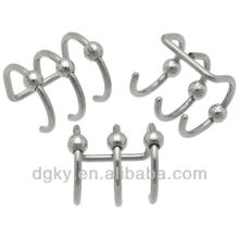 Stahl Triple Bead Knorpel Clip On Cheater Schmuck, Fake Plugs