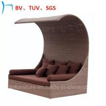 Rattan ao ar livre da mobília / cama de vime de Sun do lazer da mobília (S-3051)