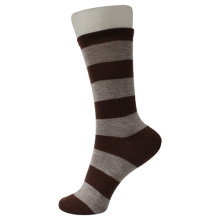Graue Brown Trips Kindersocken