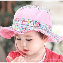 Chapéu infantil do pescador do verão da forma da menina