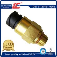 Sensor de pressão de óleo do caminhão automático Sensor de sensor de pressão do óleo Press 51.27421.0262 para homem