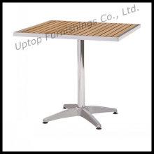 Mesa de madera de aluminio del patio de la parte superior de madera al aire libre (SP-AT325)