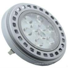 Diseño moderno LED AR111 11w, 12 V AC DC Cubierta plateada