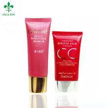 2018 PE plastic custom printing oval cosmetic tube with cap