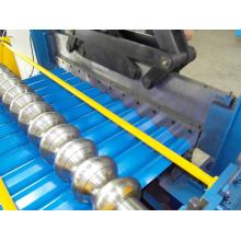 Metalldächer verzinkt Aluminium Wellpappe aus Stahlblech macht Maschine farbige Stahlwand Dach Panel kalt Profiliermaschine