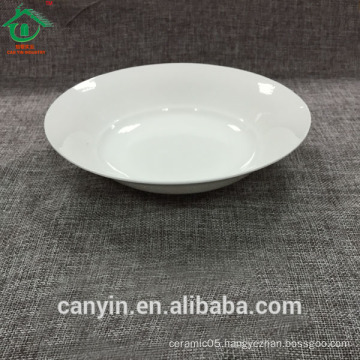 Hot Selling European style tableware dinnerware cheap ceramic soup plate