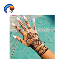 Mãos de noiva tatuagem etiqueta estênceis Henna estêncil com Mehndi Design