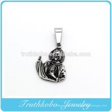 Collier à la mode anniversaire urnes amulettes noires jésus cendres pour homme pendentif bijoux vocuum en or