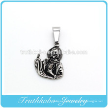 Fashionable Anniversary necklace urns black amulets jesus ashes for man Gold vocuum jewelry pendant
