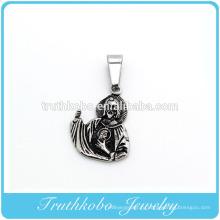 Модный юбилей ожерелье урны черная амулеты Иисус пепел для парня золото vocuum кулон ювелирные изделия