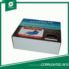 Caixa de papelão de papel barato feito de fábrica com alça
