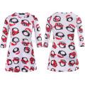 Novo modelo crianças vestido bebê menina pai natal impresso vestido casual moda baby girl natal dress