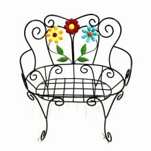 Gartendekoration Metall Blumenstuhl Blumentopf Stand