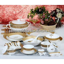 2013 newly designed 60pcs 61pcs 72pcs dinning set A B grade pearl royal bone china dinnerware
