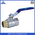 Válvula de bola de latón con el medidor de agua de la cerradura (YD-1010)