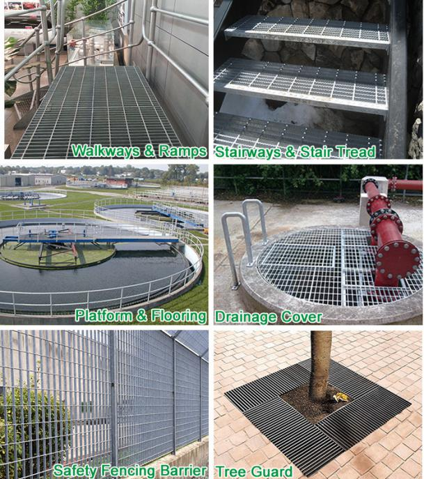 Application of steel grating