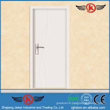 JK-P9063 JieKai nouvelle conception porte intérieure en bois / porte intérieure standard / porte de bureau intérieure avec vitre