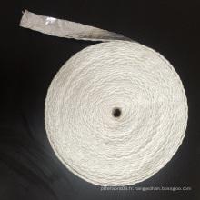 Ruban en fibre de céramique en feuille d'aluminium avec fil d'acier renforcé