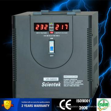 SCIENTEK Relais Typ LED-Anzeige 8000VA 4800W Automatischer Spannungsregler