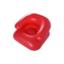 Chaise de canapé simple gonflable de couleur rouge