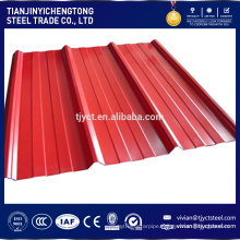 Best Construction Material Color Coated Zinc Corrugated Steel Roofing Sheets