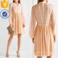 Erröten Seide-Georgette Minikleid Herstellung Großhandel Mode Frauen Bekleidung (TA4093D)